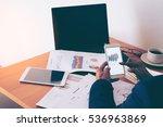 business man working at office... | Shutterstock . vector #536963869