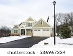 house in residential area after ... | Shutterstock . vector #536967334