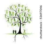 family tree  relatives  people... | Shutterstock .eps vector #53697046