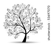 art tree beautiful  black... | Shutterstock .eps vector #53697070