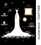 wedding shop  white dress and... | Shutterstock .eps vector #53697088