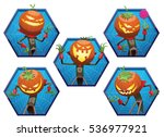 Vector Set Of Blue Frames With...