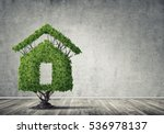 House Shaped Green Tree As Rea...