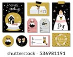 christmas cards  gift tags ... | Shutterstock .eps vector #536981191