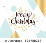 merry christmas text design.... | Shutterstock .eps vector #536988289