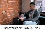 young entrepreneur freelancer... | Shutterstock . vector #537001459