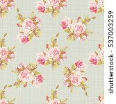 seamless floral pattern with... | Shutterstock .eps vector #537003259