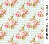 seamless floral pattern with... | Shutterstock .eps vector #537003265