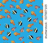 illustration of volitan lionfish | Shutterstock .eps vector #537007105