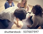 cpr first aid training concept | Shutterstock . vector #537007597