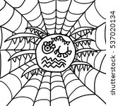 child's style scary cartoon... | Shutterstock . vector #537020134