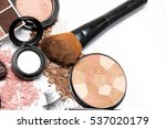 makeup products on white... | Shutterstock . vector #537020179