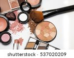 makeup products on white... | Shutterstock . vector #537020209