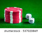 stack of chips play poker on... | Shutterstock . vector #537020869