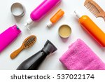 cosmetics for women haircare in ... | Shutterstock . vector #537022174