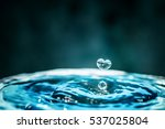 heart shape of water drops ... | Shutterstock . vector #537025804