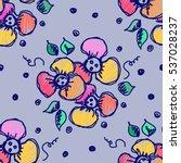 seamless raster hand drawn... | Shutterstock . vector #537028237