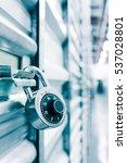 combination lock on a self... | Shutterstock . vector #537028801