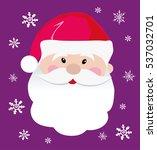 santa claus icon. santa claus... | Shutterstock .eps vector #537032701