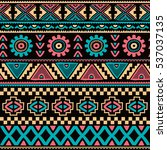 native ethnic pattern theme | Shutterstock . vector #537037135