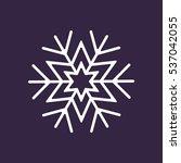 snowflake icon vector flat... | Shutterstock .eps vector #537042055