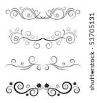 vector floral black border... | Shutterstock .eps vector #53705131