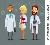 hospital medical staff team...   Shutterstock .eps vector #537061525