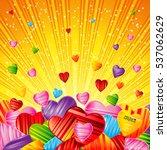 vector valentine's day... | Shutterstock .eps vector #537062629