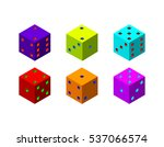 dice set. isolated on white...   Shutterstock .eps vector #537066574