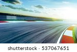 motion blurred racetrack cold... | Shutterstock . vector #537067651