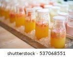 fresh orange mix juice with... | Shutterstock . vector #537068551