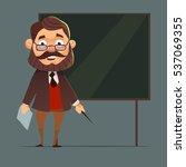 school teacher with blackboard. ...   Shutterstock .eps vector #537069355