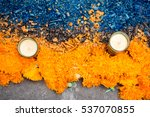 day of the dead marigold flower ... | Shutterstock . vector #537070855