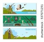 hunting headers for website.... | Shutterstock .eps vector #537071251