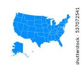 blue map of usa | Shutterstock .eps vector #537072541