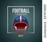 american football ball 3d... | Shutterstock .eps vector #537074005