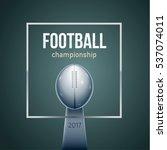 american football ball 3d... | Shutterstock .eps vector #537074011