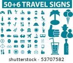 50 6 travel signs. vector