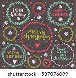merry christmas lettering in...   Shutterstock .eps vector #537076099