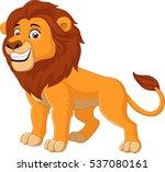 cartoon happy lion | Shutterstock . vector #537080161
