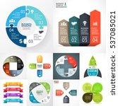 vector infographic set.... | Shutterstock .eps vector #537085021
