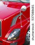 fragment of a red truck. close... | Shutterstock . vector #537088681