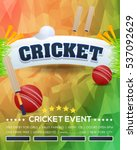 cricket event poster background ... | Shutterstock .eps vector #537092629