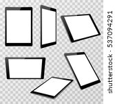 realistic black tablet template ... | Shutterstock . vector #537094291