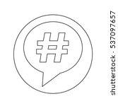 hashtag icon | Shutterstock .eps vector #537097657
