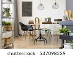 dining room with modern chairs  ... | Shutterstock . vector #537098239