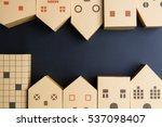 home architectural model paper... | Shutterstock . vector #537098407