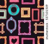 cute seamless pattern of a... | Shutterstock .eps vector #537101509