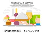 restaurant service concept... | Shutterstock .eps vector #537102445