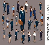 people isometric 3d  the big... | Shutterstock .eps vector #537104221